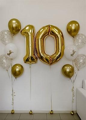 Композиция №334 с цифрами и шарами с конфетти - фото 5932