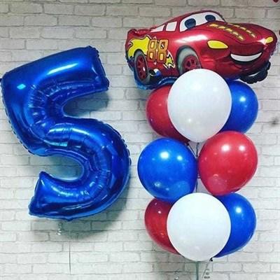 Композиция №363 с цифрой и машиной - фото 5964