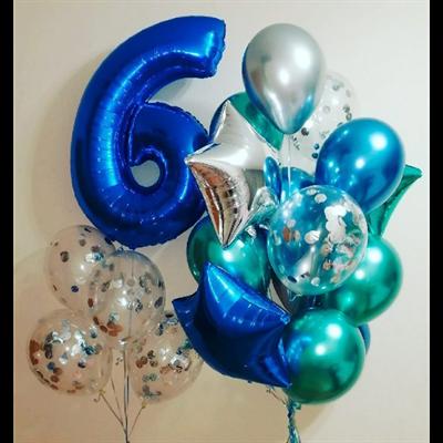 Композиция №364 с цифрой и звездами - фото 5965