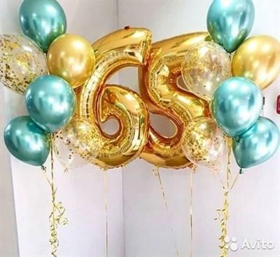 Композиция №371 с цифрами и шарами с конфетти - фото 5971