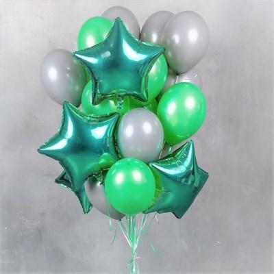 Композиция №396 с зелеными звездами - фото 5999