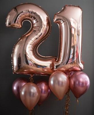 Композиция №402 с цифрами из розового золота - фото 6006