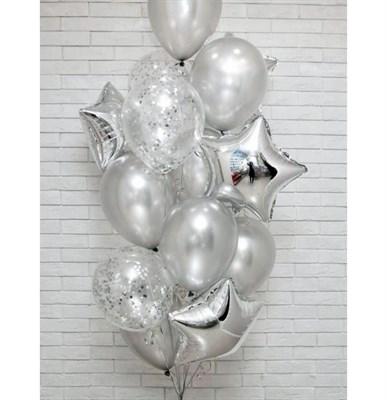Композиция №407 со звездами и шарами с конфетти - фото 6011