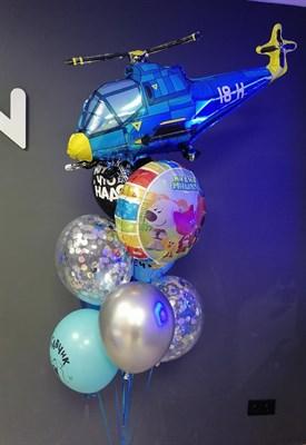 Композиция №418 с вертолетом и кругом с рисунком - фото 6025