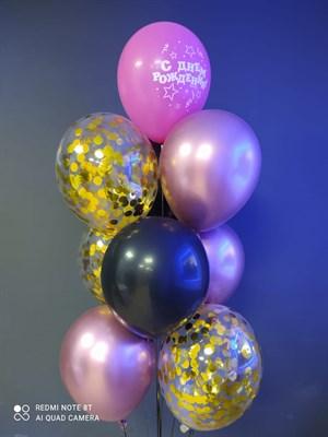 Композиция №427 с шарами с конфетти - фото 6035