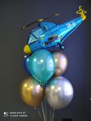 Композиция №431 с синим вертолетом - фото 6042