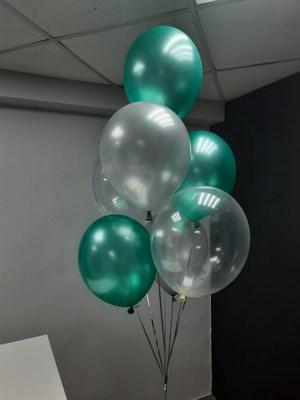 Композиция №433 из зеленых и прозрачных шаров - фото 6044