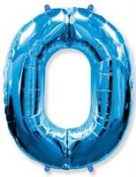 """Фольгированный шар """"большая цифра """"0"""" синяя"""