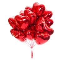 """Облако из Фольгированных шаров """"Сердце"""" (45 см.) с гелием"""