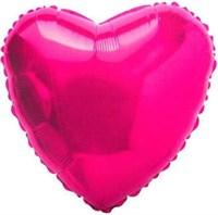 """Фольгированный шар """"Сердце"""" фуксия (45 см.)"""