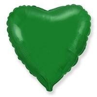 """Фольгированный зеленый шар """"Сердце"""" (45 см.)"""
