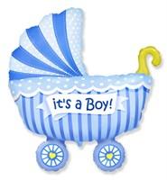 """Большой фольгированный шар """"Коляска. Это мальчик"""""""