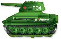 Танк Т-34. Большой фольгированный шар с гелием