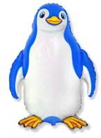 Пингвин, фольгированный шар с гелием 90см