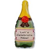 Бутылка шампанского, фольгированный шар 81 см
