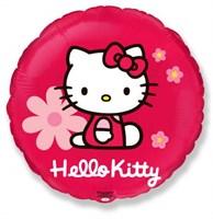 Фольгированный шар  Hello Kitti c гелием 45 см.
