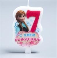 """Свеча цифра """"7"""" для девочек"""