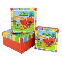 """Коробка подарочная  """"Мимимишки"""" 15*15*7,5 см."""