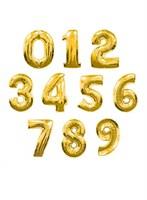 """Большая золотая фольгированная цифра """"slim"""", 102 см с гелием"""