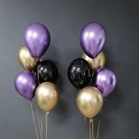 Композиция №302 с хромированными шарами