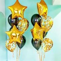 Композиция №307 со звездами и шарами с конфетти