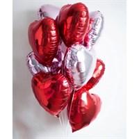 Композиция №308 из фольгированных сердец