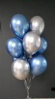 Композиция №309 из хромированных шаров