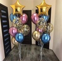 Композиция №316 со звездами и шарами с конфетти