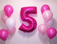 Композиция №320 с розовой цифрой