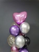 Композиция №322 с сердцем и шарами с конфетти