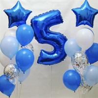 Композиция №326 с цифрой и звездами