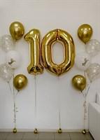 Композиция №334 с цифрами и шарами с конфетти