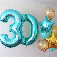 Композиция №362 с цифрами и звездами