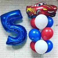 Композиция №363 с цифрой и машиной