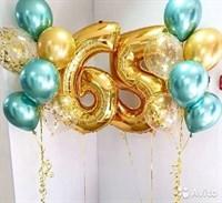 Композиция №371 с цифрами и шарами с конфетти