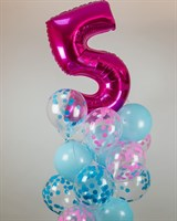 Композиция №372 с цифрой и шарами с конфетти