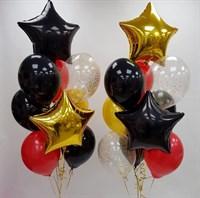 Композиция №377 со звездами и шарами с конфетти