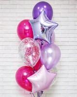 Композиция №379 со звездами и шарами с конфетти