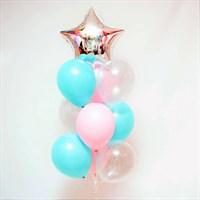 Композиция №380 со звездой и шарами с конфетти