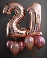 Композиция №402 с цифрами из розового золота