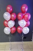Композиция №414 из красных и белых шаров