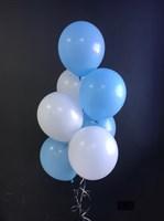 Композиция №428 из голубых и белых шаров